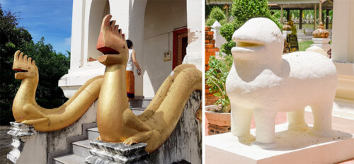 Rural Temple Statues of Magical Beasts Melt Hearts, Inspire Fanart
